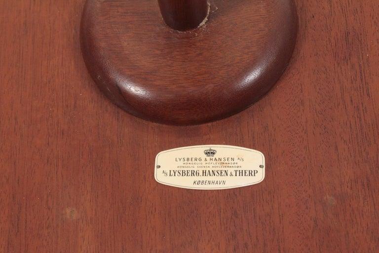 Midcentury Danish Side Table, Mahogany by Lysberg Hansen & Terp, 1950s 1