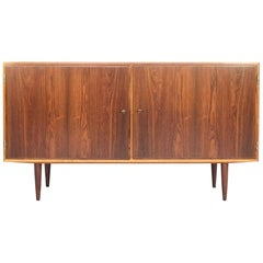 Midcentury Danish Sideboard with 2 Doors in Rosewood by Hundevad 1960s
