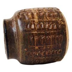 Midcentury Danish Stoneware Vase by Jørgen Mogensen, 1960s