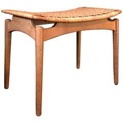 Midcentury Danish stools, Finn Juhl attributed.