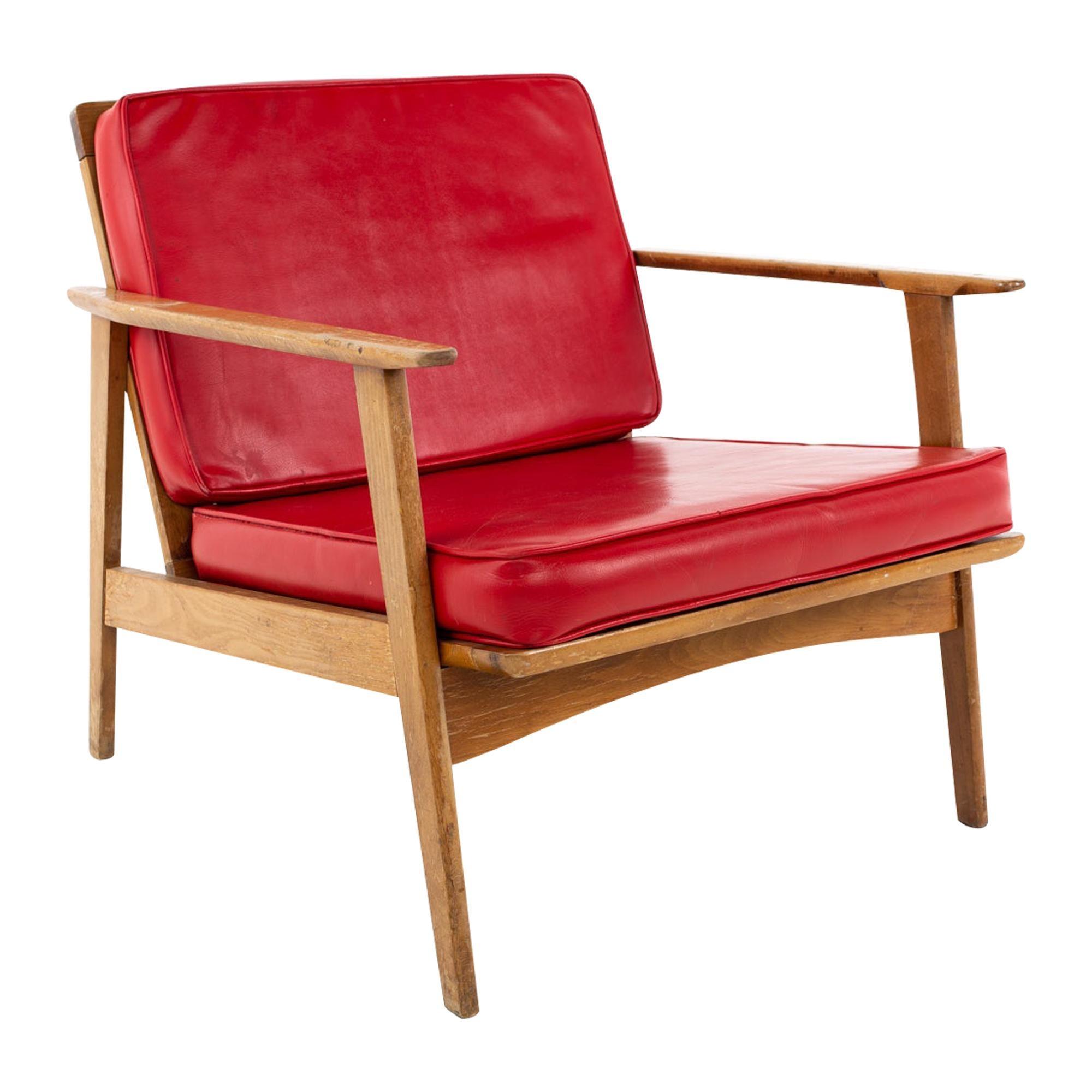 Mid Century Danish Style Walnut Lounge Chair