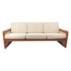 Midcentury Danish Teak 3-Seater Sofa, 1970's