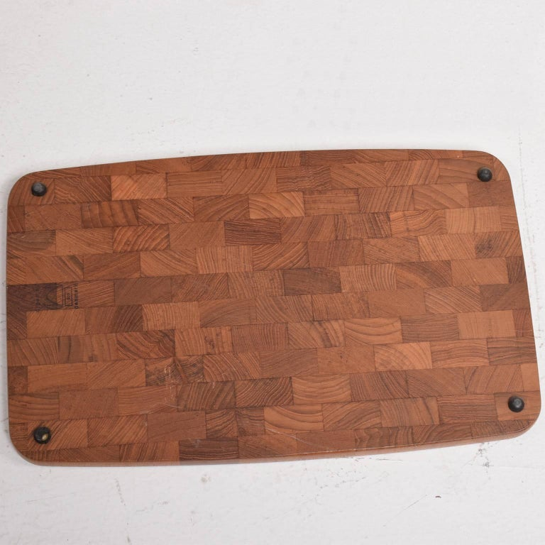 Mid-20th Century Midcentury Danish Teak Cutting Board by Digsmed Denmark, 1960s For Sale