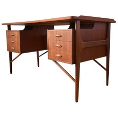 Midcentury Danish Teak Desk by Svend Aage Madsen for Sigurd Hansen, 1950s