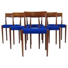 Midcentury Danish Teak Dining Chairs, Set of 6