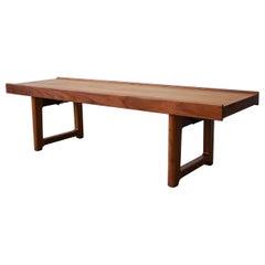 Midcentury Danish Teak Krobo Bench by Torbjørn Afdal for Bruksbo