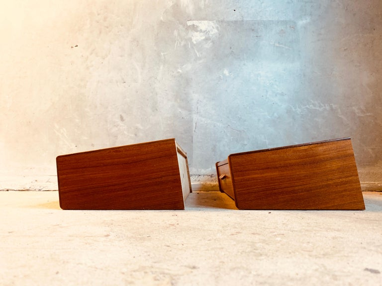 Midcentury Danish Teak Nightstands by Poul Volther For Sale 4