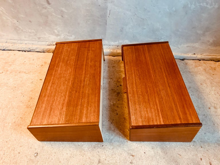 Midcentury Danish Teak Nightstands by Poul Volther For Sale 8