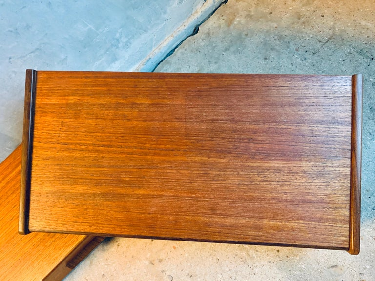 Mid-Century Modern Midcentury Danish Teak Nightstands by Poul Volther For Sale