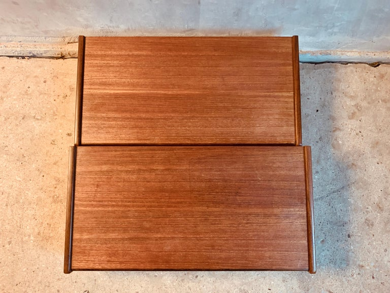 European Midcentury Danish Teak Nightstands by Poul Volther For Sale