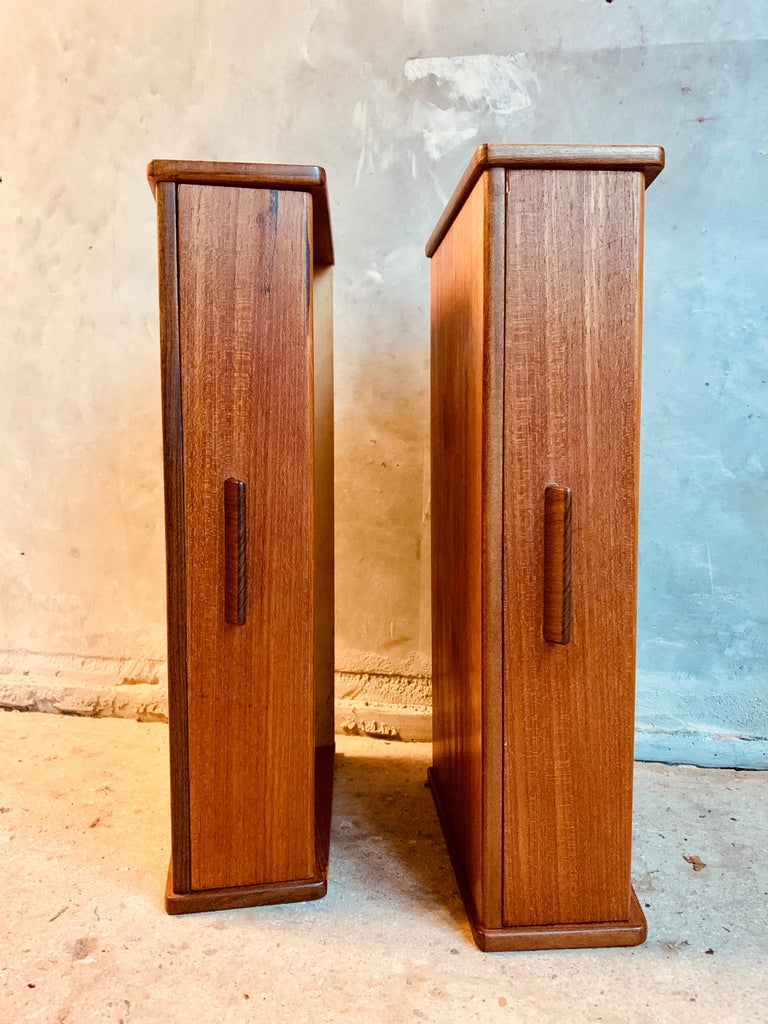 Midcentury Danish Teak Nightstands by Poul Volther In Good Condition For Sale In Copenhagen, DK