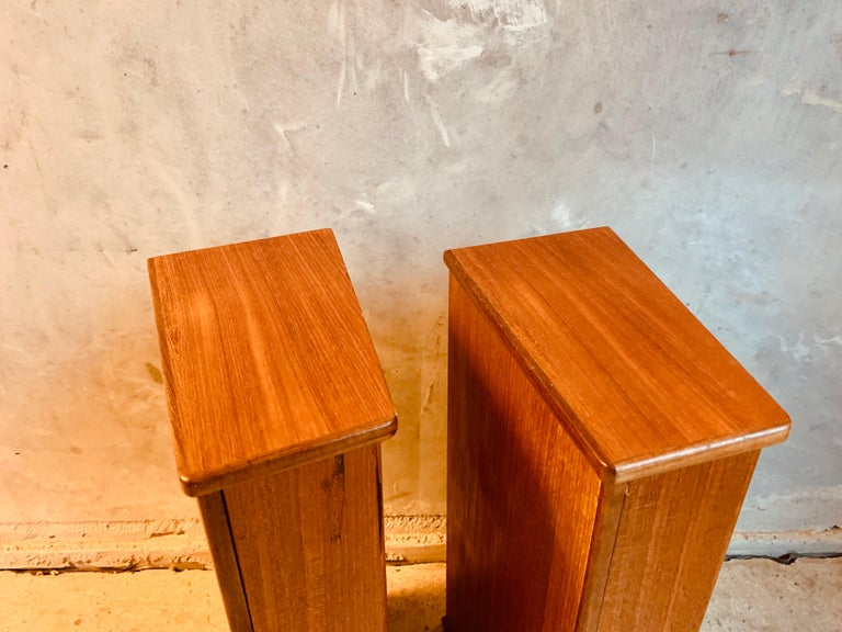 Midcentury Danish Teak Nightstands by Poul Volther For Sale 3