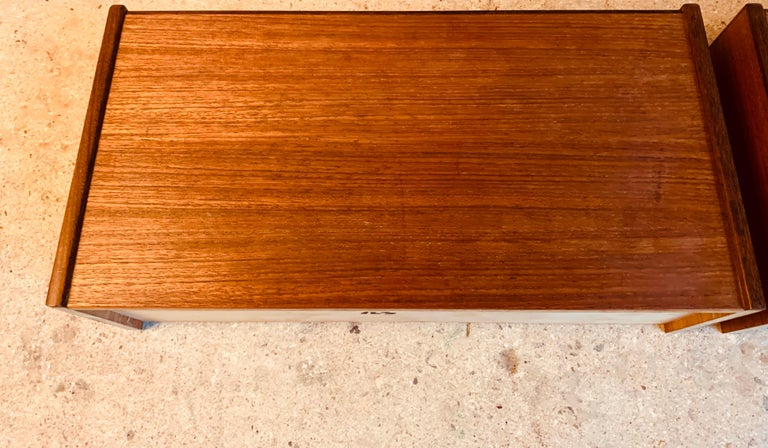 Midcentury Danish Teak Nightstands by Poul Volther For Sale 5