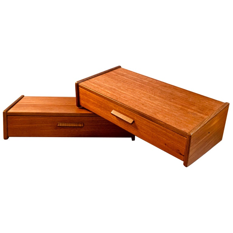 Midcentury Danish Teak Nightstands by Poul Volther For Sale