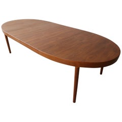 Midcentury Danish Teak Oval Dining Table by Harry Ostergaard for A/S Randers