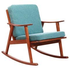 Midcentury Danish Teak Rocking Chair
