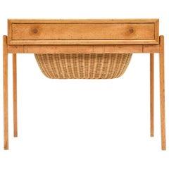 Midcentury Danish Teak Sewing or Side Table