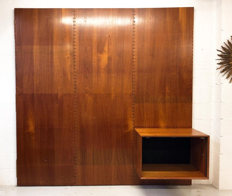 Midcentury Danish Teak System 'Cado' by Poul Cadovius Modular Wall Shelving 60s For Sale 8