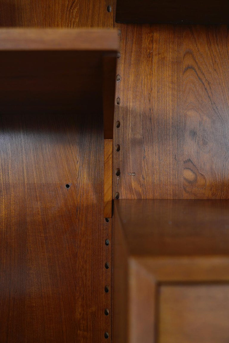 Midcentury Danish Teak System 'Cado' by Poul Cadovius Modular Wall Shelving 60s For Sale 13