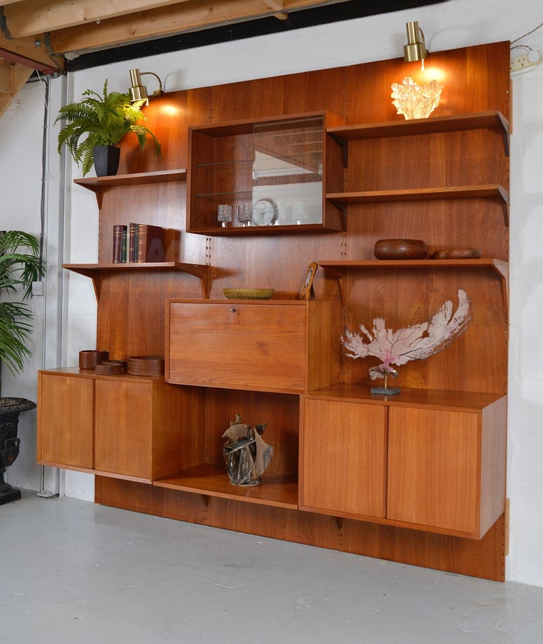 Mid-20th Century Midcentury Danish Teak System 'Cado' by Poul Cadovius Modular Wall Shelving 60s For Sale