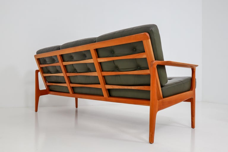 Scandinavian Modern Midcentury Danish Three-Seat Sofa by Arne Wahl Iversen, Denmark, 1960s For Sale