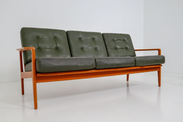 midcentury danish three seat sofa by arne wahl iversen denmark 1960s for sale at 1stdibs