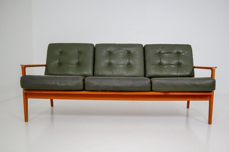 Midcentury Danish Three-Seat Sofa by Arne Wahl Iversen, Denmark, 1960s For Sale 1
