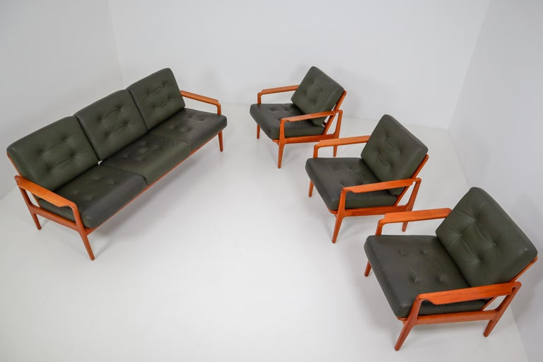 Midcentury Danish Three-Seat Sofa by Arne Wahl Iversen, Denmark, 1960s For Sale 2