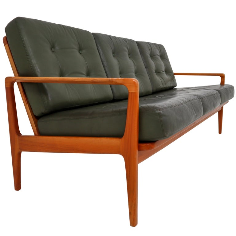 Midcentury Danish Three-Seat Sofa by Arne Wahl Iversen, Denmark, 1960s For Sale
