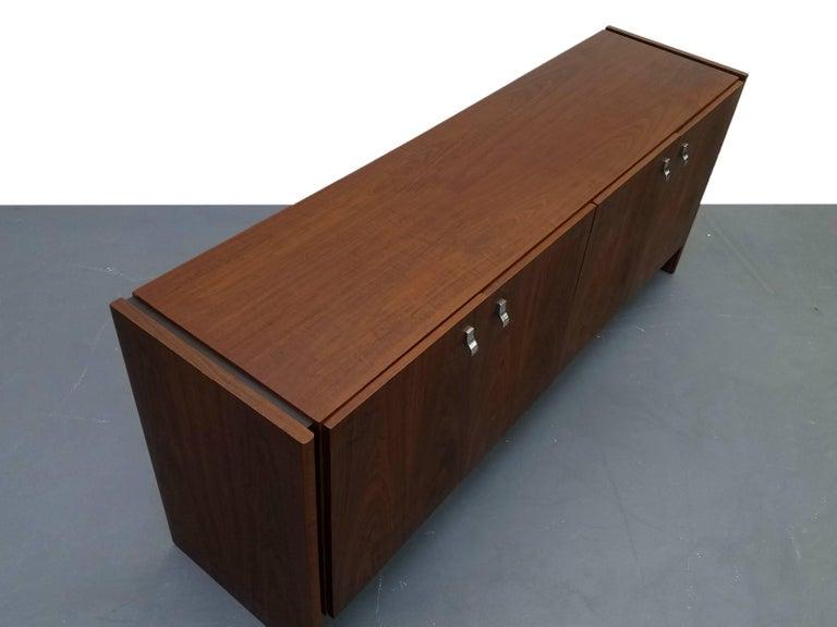 Mid-Century Modern Midcentury Danish Walnut Credenza Sideboard Buffet For Sale