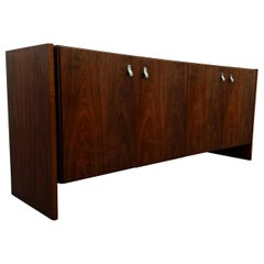 Midcentury Danish Walnut Credenza Sideboard Buffet