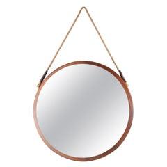Midcentury Dark Brown Frame Mirror, Italy, 1960s