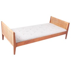 Midcentury Daybed in Teak and Cane, Made in Denmark, 1960s