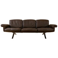 Midcentury De Sede DS31 3-Seat Sofa in Maroon Leather, 1970s
