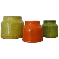 Midcentury Decorative Ceramic Pots by Mado Jolain, France, 1950s
