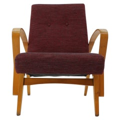 Midcentury Design Armchair / Czechoslovakia, 1960s