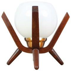 Midcentury Design Bedside Table Lamp Dřevo Humpolec, 1970s