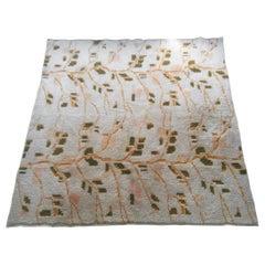 Midcentury Design Handmade Wool Rug / Carpet, 1970
