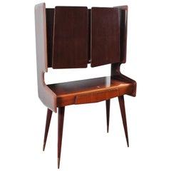 Midcentury Design Ico Parisi Wooden Bar Cabinet, 1950s, Italy