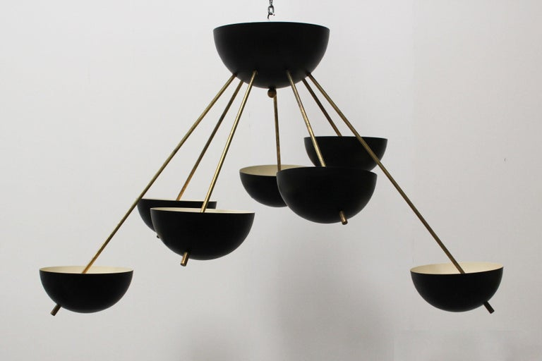 Magnificent midcentury design Sputnik chandelier in design of 1960s Stilnovo.