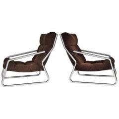 Midcentury Design Lounge Armchairs, 1970s