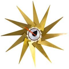 Midcentury Design 'turbine' Wall Clock