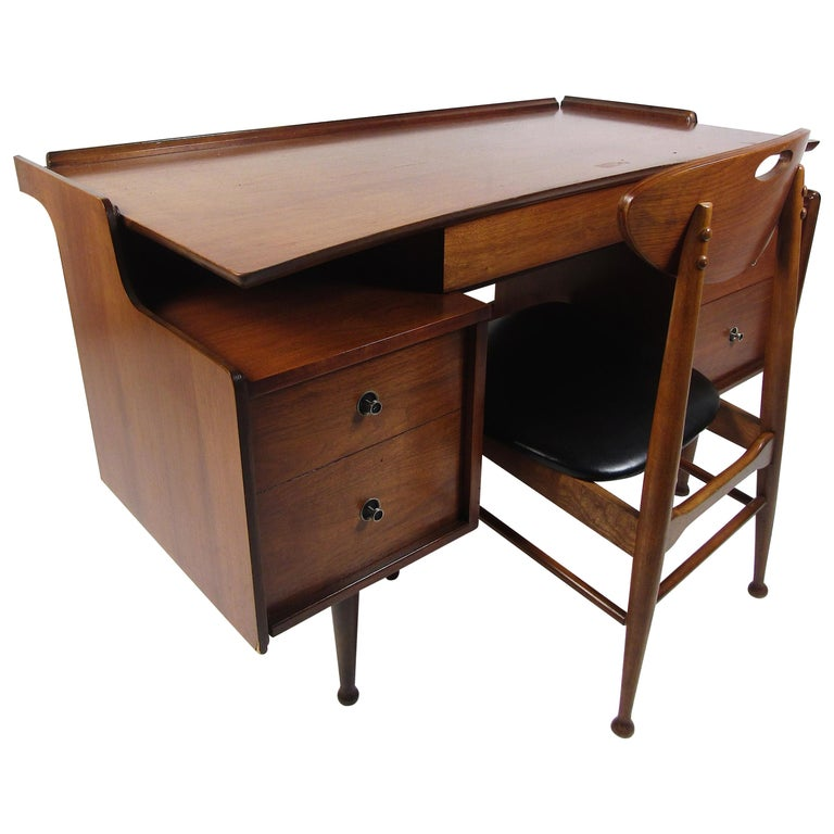Midcentury Desk and Chair by Hooker Furniture For Sale