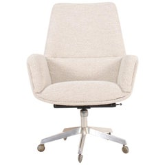 Midcentury Desk Chair with New Boucle Fabric by Finn Juhl, 1960s