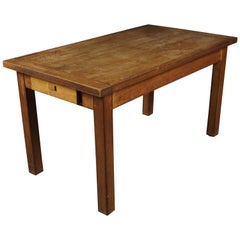 Midcentury Pine Desk from France, circa 1950
