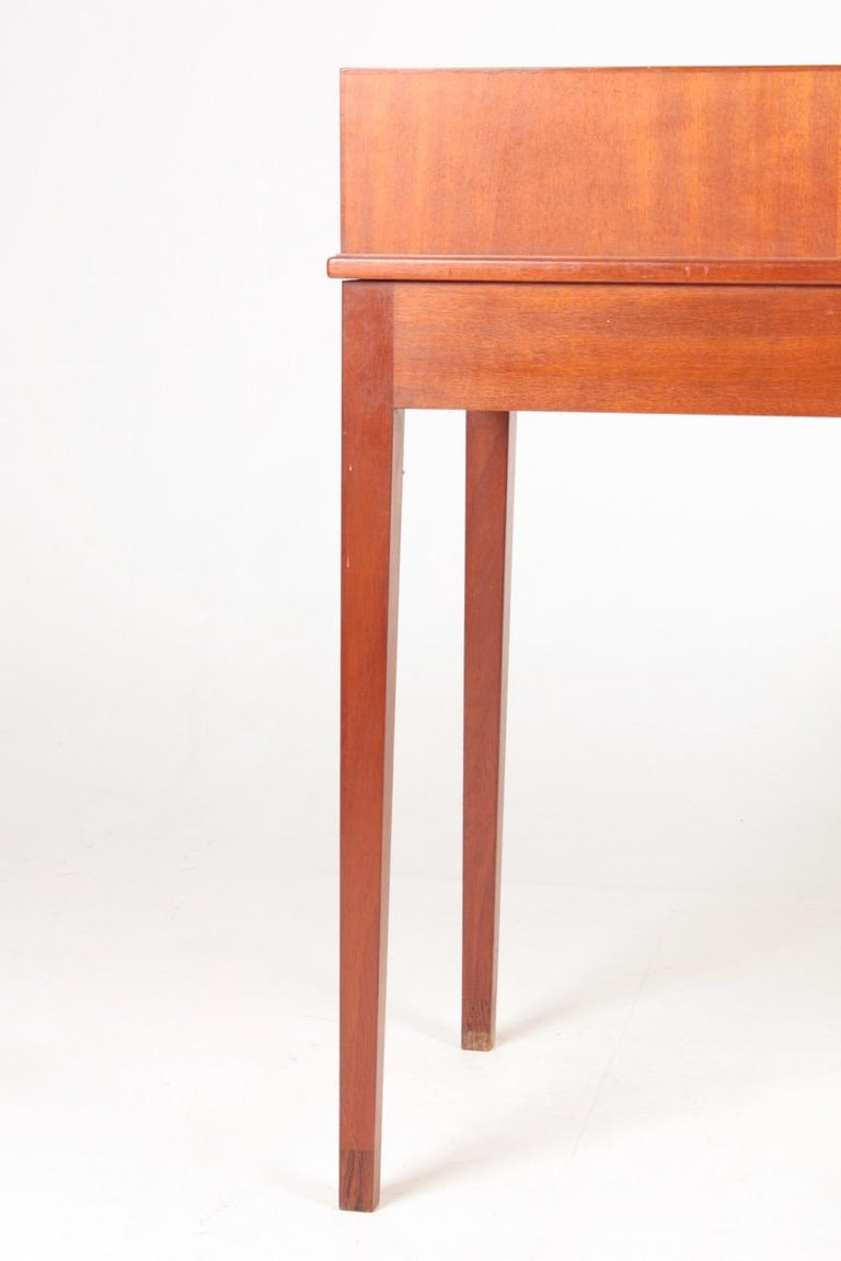 Midcentury Desk in Mahogany with Organizer Designed by Ole Wanscher, 1950s For Sale 5