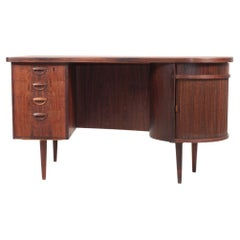 Midcentury Desk in Rosewood by Kai Kristiansen, Made in Denmak, 1950s