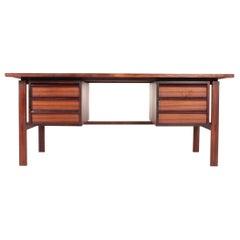 Midcentury Desk in Rosewood by Svend Aage Madsen, 1950s