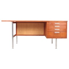 Midcentury Desk in Teak by Kai Kristiansen, Made in Denmark, 1950s
