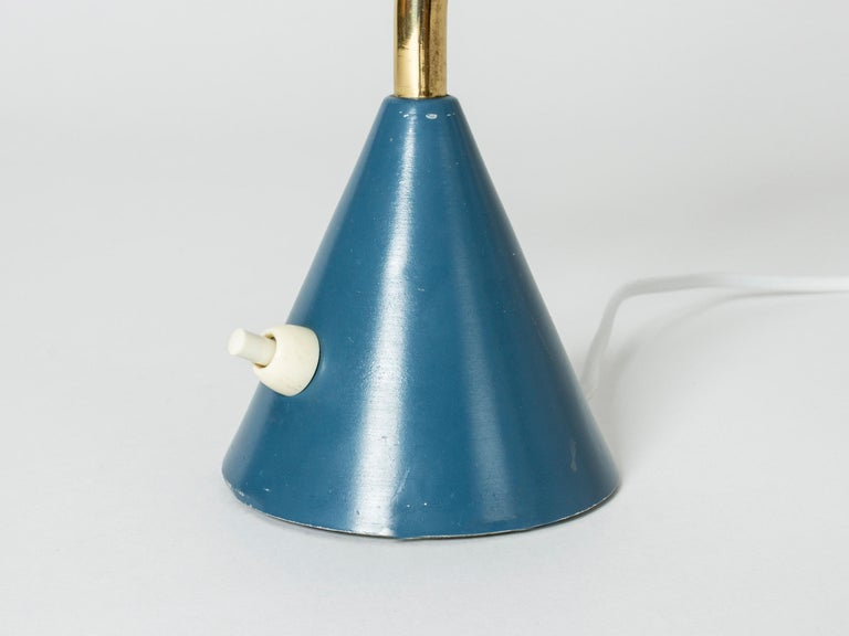 Metal Midcentury Desk Lamp from Falkenbergs Belysning For Sale